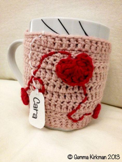 Mug cosy, customised label